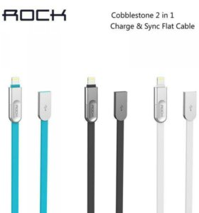 ROCK Cobblestone 2in1 Charge & Sync flat Cable 100
