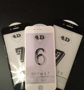 Стекло защитное 4 D iPhone 6/7/8 6/7 plus