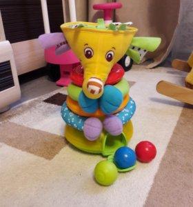 Развивающая игрушка Слоник-пирамидка Тини Лав