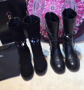 Ботинки Chanel со шнуровкой, размеры 35-41