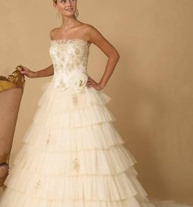 Свадебное платье классического А-силуэта 38-42