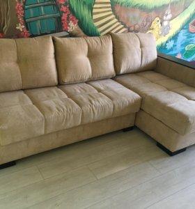 "Угловой диван ""Антарес"" правый Luxor 2 Beige"