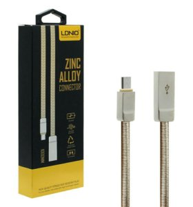 LDNIO LS20 zink alloy connector micro USB gold