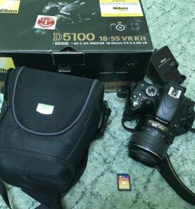 Nikon d5100 Kit 18-55VR + Кейс + Карта памяти 16гб