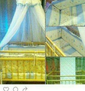 Кроватка весь комплект