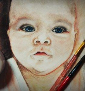 Картины, портреты на заказ. Творческие работы