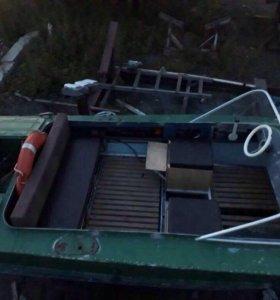 Лодка мотор телега