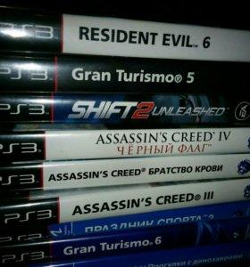 PS III resident evil/gt5/gt6/assasin's/