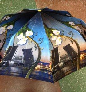 Эффектный зонт полуавтомат