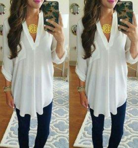 Рубашка блузка новая М, L