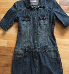 Платье джинс р.44