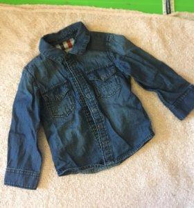 Продаю джинсовую рубашку фирма reserved