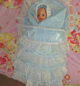 Конверт- одеяло осень- зима на выписку