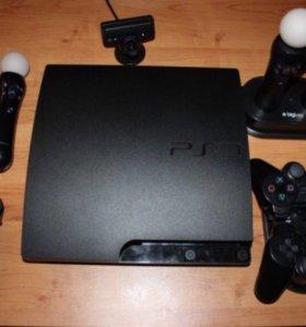 Sony PlayStation 3 320Gb + 17 аксессуаров + 35 игр