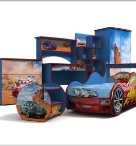 Набор детской мебели для мальчика Тачки