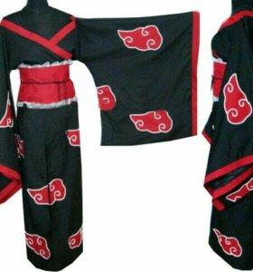 Косплей кимоно акацуки НАРУТО плащ