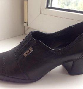 Кожаные туфли весна-осень