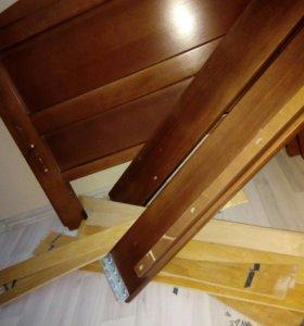 Кровать односпальная деревян.