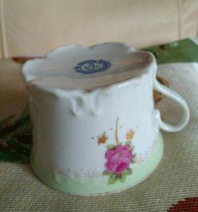 Старинная чашечка ,фарфор ручная роспись с номером