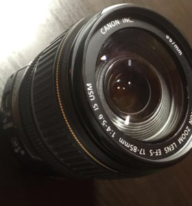 Объектив Canon zoom lens EF-S 17-85 IS USM