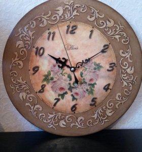 Декупаж часы