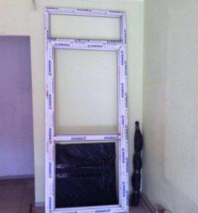 Новая пластиковая дверь