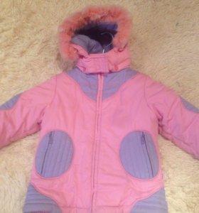 Зимняя куртка для девочки 110см