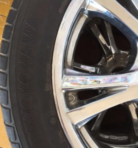 Колёса в сборе,диски хром,шины YOKOHAMA,5 болтовые