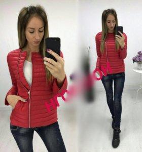 Куртка красная демисезонная