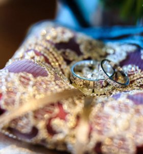 Подушечка для колец свадебная