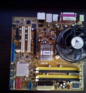 Сборка мать+процессор+кулер
