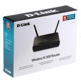 WIFI Роутер D-link DIR-615 , новый