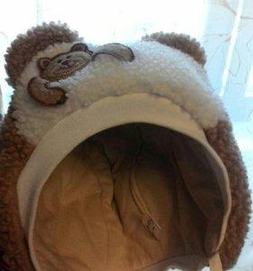 шапка -медвежонок от 6 мес до 1,5 лет