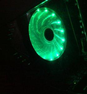 Кулер 120mm, зеленый