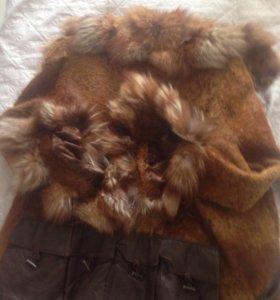 Продам куртку с натуральным мехом лисы