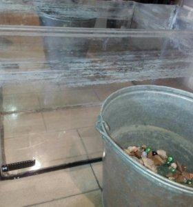 Аквариум зеркальный 60 л + камни грунт