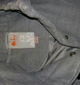 Пальто драповое утеплённое р.136-146