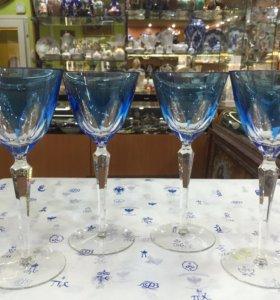 Чешский хрусталь бокалы, рюмки, графины