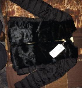 Куртка новая на весну ,натуральный мех кролик