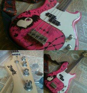 Zombie guitar. Басс гитара.