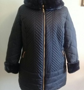 Новая женская зимняя куртка р 56, но маломер. на54