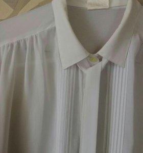 Белая блузка крепдешин P&H. 46-48