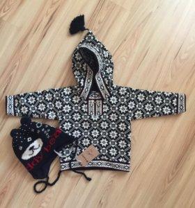 Новый свитер и шапочка Scandica
