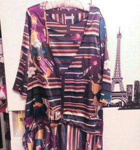 Платье из атласного шёлка