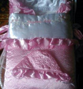Конверт и одеяло 2в1 на выписку
