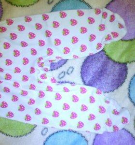 Ползунки и кофта для девочки 0-3 месяцев