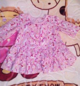 Платья для девочки 3-6 месяцев
