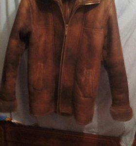 Дублёнка мужская натуральная светло коричневая
