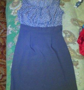 Платья серого цвета размер-42