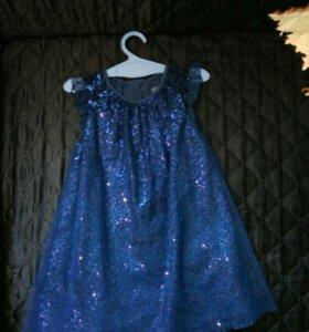 Платье в пайетках р 86-92-98